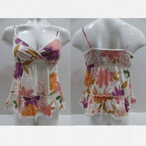 Old Navy top XL floral strapless empire v-neck
